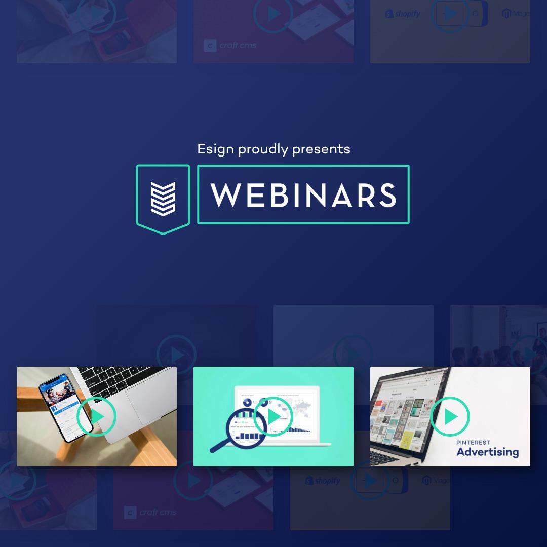Esign webinars: zo zet je stappen in je online aanwezigheid