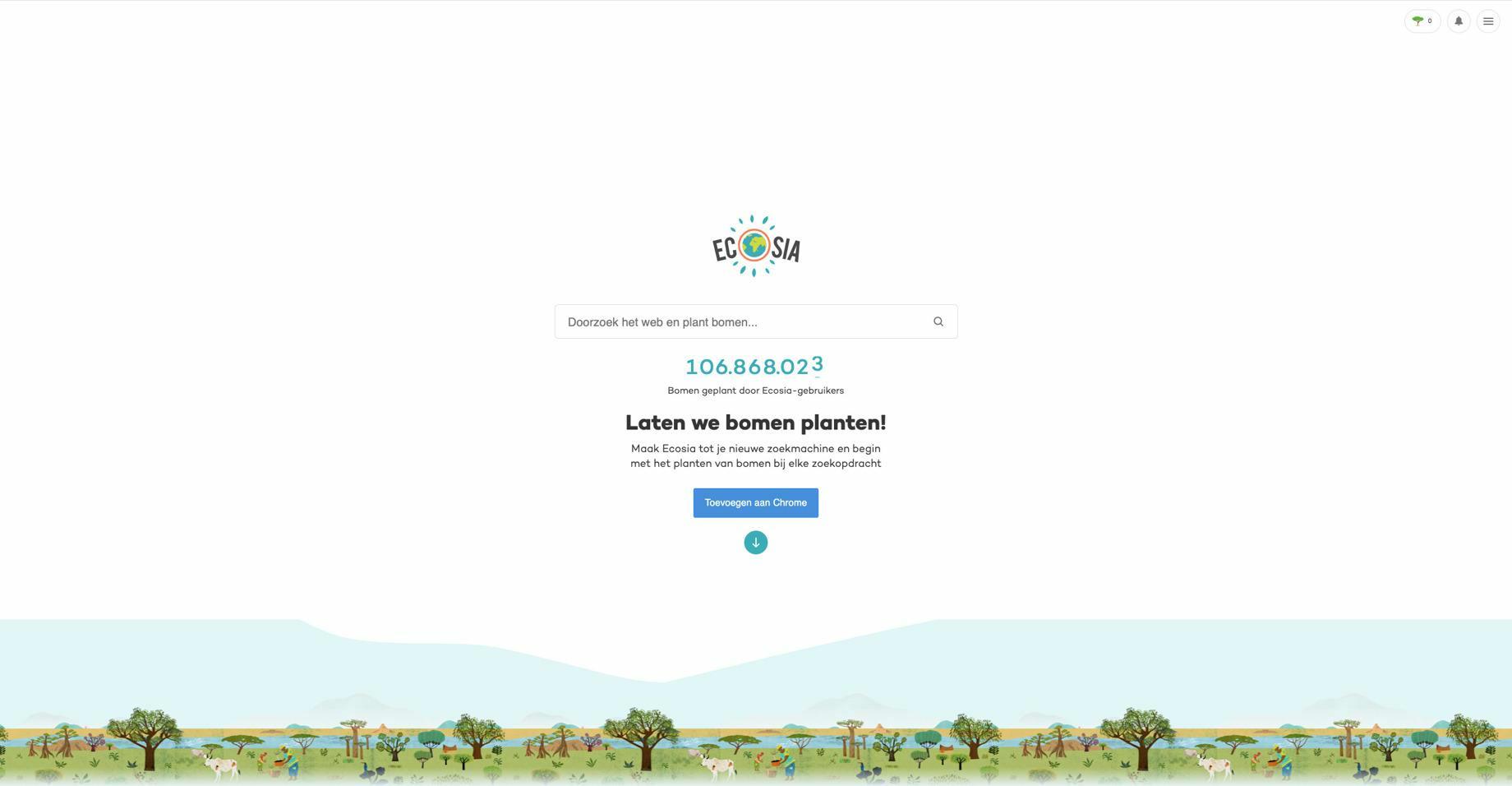 Ecosia zoekmachine